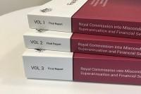 Stack of the final report from the Royal Commission